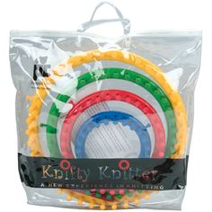 Amazon.com: Genuine Knifty Knitter Round Loom Set with 4 Looms, Hook & Bag