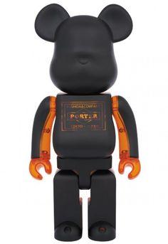 F/S Medicom Toy BE@RBRICK 400% PORTER Black x Skeleton Orange Bearbrick Figure #MEDICOMTOY