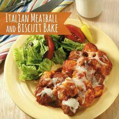 Italian meatball bake