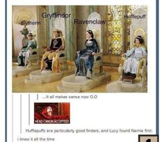 They founded Hogwarts in their spare time. But Edmund is no way slytherin