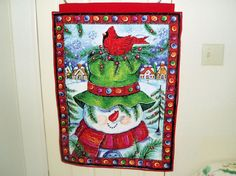 Bizspeaking deal: Snowman Quilted Wall Hanging at $19.95 Snowman Quilted Wall Hanging   •100% Cotton Fabric    http://bizspeaking.com/s/idn3