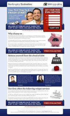 Top 20 debt landing page design for your debt relief business conversion   landing page designs