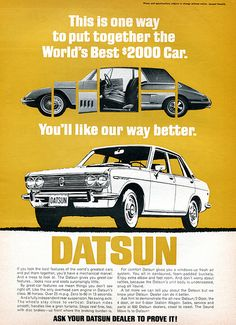1969 Datsun Advertising Road & Track April 1969 | Flickr - Photo Sharing!