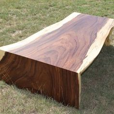 Live Edge Slab Coffee Table Or Bench by Aaron Smith