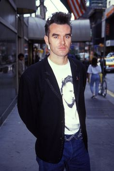 Morrissey in New York City ― photo by Vinnie Zuffante The Smiths Morrissey, Johnny Marr, New York City Photos, Robert Smith, Charming Man, Joan Jett, Perfect Man, I Love Music, Will Smith