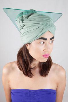 MINT SHARD TURBAN // Photo - Alex Pielak, MUA/Hair – Simone Best, Model – Simona Chvanaite