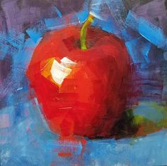 "Daily Paintworks - ""Apple"" - Original Fine Art for Sale - © Cindy Haase"