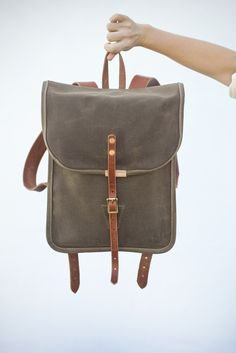 Grace Pack. Small BackpackMen s BackpackLeather BackpackCanvas  BackpackLeather SatchelCanvas LeatherWaxed CanvasMessenger Bag ... ce5a3d36548a6