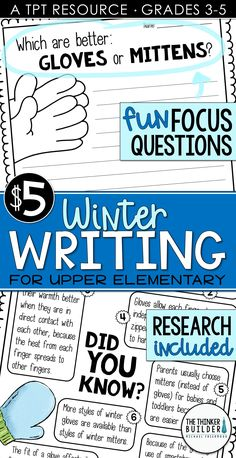 Winter Writing: Opinion Writing for a Snowy Day {Question and Opinion Writing, Persuasive Writing, Pre Writing, Kids Writing, Teaching Writing, Writing Activities, Writing Skills, Writing Prompts, Teaching Ideas