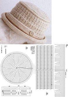Crochet hat pattern Newsboy hat pattern crochet by ktandthesquid Bonnet Crochet, Crochet Beret, Crochet Cap, Crochet Diagram, Crochet Stitches, Knitted Hats, Crochet Crafts, Crochet Projects, Diy Crafts