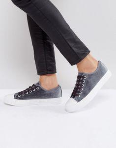 Park Lane Velvet Sneaker - Gray