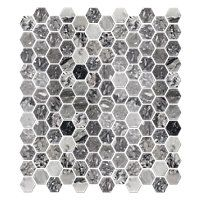 Milky Black Polished Hex 1 x 1 in $15.99 Sq Ft     			 					Coverage 8.90 Sq Ft per  Box