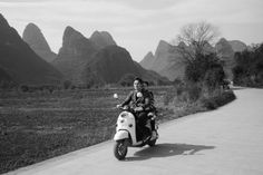 i'm not in love with the modern world #black #and #white #chinese #new #year #couple #vespa