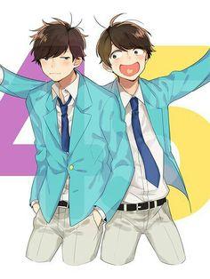 Ichimatsu and Jyushimatsu All Anime, Anime Guys, Anime Art, Otaku, Comedy Anime, Ichimatsu, Bishounen, Art Inspo, Art Projects