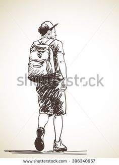 Ce3f0536534aa4051c325a1fdd6299c1 Walking Man Hand Drawn Jpg 236 328 Hand Drawn Vector Illustrations How To Draw Hands Illustration