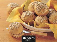 Weizenbrötchen mit Sonnenblumenkernen Stuffed Mushrooms, Vegetables, Play Dough, Oven, Bread, Food Food, Rezepte, Stuff Mushrooms, Veggie Food