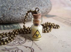 Biohazard  Bottle Charm by krackerjax on Etsy, $15.00