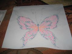 Beautiful Neon Butterfly Rhinestones Applique by cthorses66, $12.00