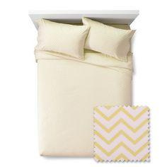 Chevron Sheet Set - Twin - 3 pc - Yellow - Pillowfort™ : Target