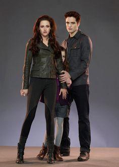 Renesmee Cullen, Edward Cullen, Bella Swan en Amanecer Parte 2