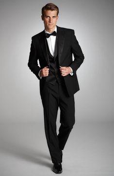 BOSS Black Three Piece Tuxedo (Free Next Day Shipping)  d866a1be764
