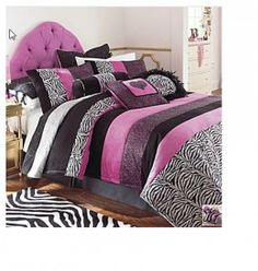 Pink Zebra Print Bedding- Decor Ideas