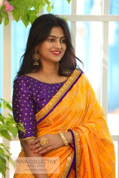 20 Latest Saree Blouse Designs for Women - Style Your Wife Brocade Blouse Designs, Pattu Saree Blouse Designs, Fancy Blouse Designs, Designer Blouse Patterns, Bridal Blouse Designs, Latest Saree Blouse Designs, Dress Designs, Hyderabad, Mirror Blouse Design