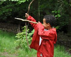 Natural bow and arrow.