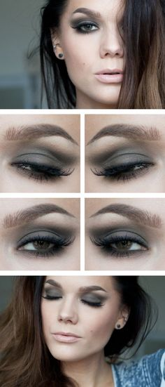 Gray eyeshadows. Gray is a neutral color