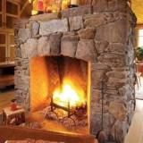 Fantastic Pics cast Stone Fireplace Thoughts Stacked stone fireplaces are undeniably gorgeous and can turn what would otherwise be a plain, borin Stone Fireplace Pictures, Stone Veneer Fireplace, Stone Fireplace Designs, Stone Veneer Panels, Stone Fireplace Surround, Fireplace Hearth, Fireplace Ideas, Farmhouse Fireplace, River Rock Fireplaces