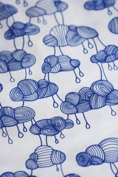 landscapearchitecture:  (via Weather Pattern Fabric - Cobalt Blue on White - Half a Yard)