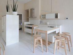 Modulo cucina laccato in legno con cassetti con lavello singolo M1004 by MINT FACTORY