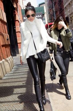Kendall Jenner.. June Snap Collar Fur Vest, Celine Nano bag, and Celine Fall 2013 Boots..... - Celebrity Fashion Trends