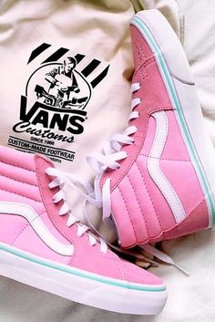 1920c91c1e2 24 Ladies Pink Shoes Collection for Any Occassion. Custom Vans ...