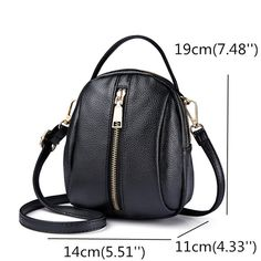 PU Leather Zipper Crossbody Bag Shoulder Bag Phone Bag For Women