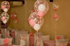 Dizem por ai que festa sem balão não é festa. As opções de decoração com balões são diversas: balões de gás hélio, suspensos, painel de balões, enfeite de mesa, balões dentro do outro etc. http://www.seuevento.net.br/uberlandia/artigos-e-dicas/09/12/2013/ideias-de-decoracao-para-cha-de-bebe/