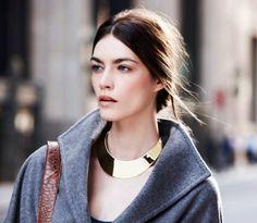 Everything Fabulous: Fashion Inspiration: Metallic Collar Necklace