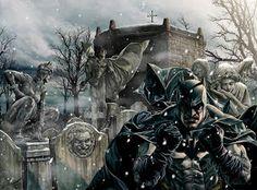 Batman by Lee Bermejo Batman Noel - Cover Final Batman Vs Superman, Spiderman, I Am Batman, Superhero Characters, Comic Book Characters, Comic Books, Batman Artwork, Cool Artwork, Amazing Artwork