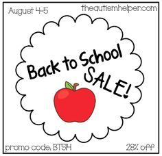 Last Day of Back to School Sale!!!  28% off Today (Aug 5th) by theautismhelper.com