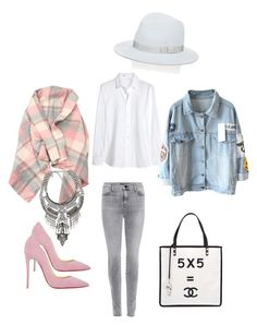 """""""Untitled #522"""" by raluca-denisat on Polyvore featuring J Brand, Christian Louboutin, Yves Saint Laurent, Chanel and rag & bone"""