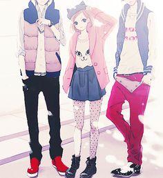Las etiquetas más populares para esta imagen incluyen: anime, fashion, cute, anime boy y art