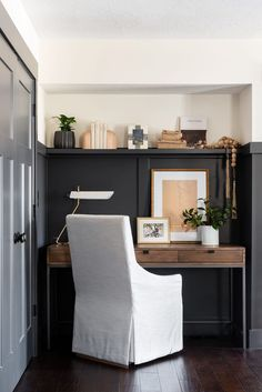 Office Nook, Home Office Space, Office Walls, Home Office Design, Home Office Decor, House Design, Home Decor, Office Spaces, Work Spaces