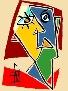 Abstract Face Art, Abstract Portrait, Outsider Art, Portraits Cubistes, Tableau Pop Art, Afrique Art, Modern Pop Art, Art Drawings Sketches Simple, Art For Art Sake