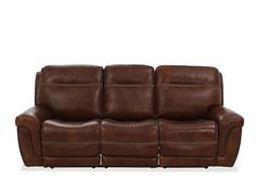 Nailhead-Accented Leather Power Reclining Sofa in Brown Living Room Seating, Living Room Furniture, Genuine Leather Sofa, Power Recliners, Reclining Sofa, Furniture Inspiration, Upholstered Chairs, Sectional Sofa, Seat Cushions