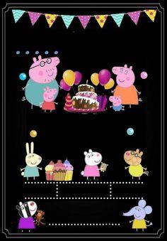 Peppa Pig Birthday Decorations, Peppa Pig Birthday Invitations, Peppa E George, George Pig Party, Invitacion Peppa Pig, Cumple Peppa Pig, Boy Birthday Parties, 2nd Birthday, Peppa Pig Teddy