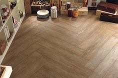 wood effect ceramic tiles for the dining room