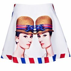 Hollywood Star Graphic Skirts #print #fashion