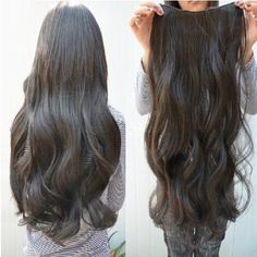 """Gorgeous Long Curly Clip-on Hair Extension Wigs - Black by World Pride. $9.59. High temperature silk, be able to endure temperature below 180. With imitation scalp on the top of head. The most original softness, longer life and strength compared to others. Color: Black. Approx Length: 55cm/21.7"""". Package included: 1 × Black Hair Pieces.    During entire manufacturing process, this hair is kept root end first, eliminating the chances of hair dryness and avoiding hair to ..."""
