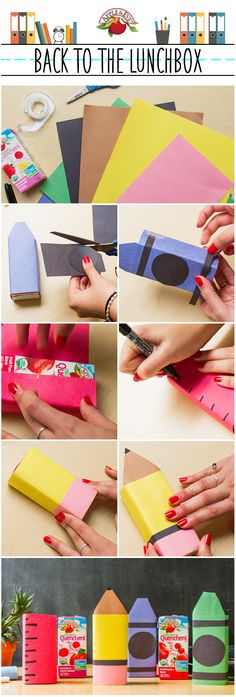 School supplies don't just go in backpacks anymore!  Learn how to make these fun wraps for the first day.