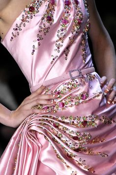 Christian Dior Haute Couture - Pink, Pleats and Jewels - the most beautiful dress
